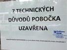 Uzavřená pobočka Raiffeisen Bank v Nitranské ulici v Praze (12.7.2013)
