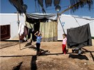 Malí syrští uprchlíci v Libanonu. Táborová škola je vlastně jediným rozptýlením