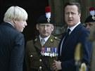 Pohřbu se účastnil i britský premiér David Cameron (12. července)