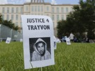 Fotografie Trayvona Martina p�ed soudem v Sanfordu na Florid� (13. �ervence