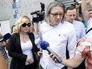 Jana Nagyová opuští vazební věznici v Ostravě. (19. července 2013)