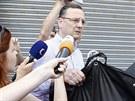 Pro Janu Nagyovou si přijel osobně expremiér Petr Nečas. (19. července 2013)