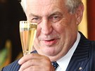 Prezident Milo� Zeman p�i jmenov�n� vl�dy premi�ra Ji��ho Rusnoka. (10....