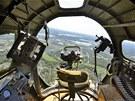 Čelní prosklená kabina bombardéru B-17 sloužila bombometčíkovi k přesnému