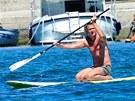 Roman Janoušek na surfu v chorvatském Zadaru.