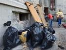 Poslední nájemníci v ostravském Přednádraží se stěhují pryč. (10. července 2013)