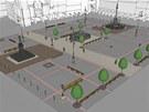 Vizualizace nové podoby Krakonošova náměstí v Trutnově.
