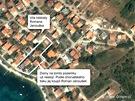 MAPKA: Pozemek, který Roman Janoušek koupil v chorvatském Zadaru.