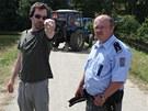Snímek z posledního natáčecího dne filmu Krásno režiséra Ondřeje Sokola. Ten se