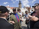 Ohlášená protiromská demonstrace v Českých Budějovicích skončila neúspěchem.