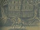 Ilustrace Jaroslava Róny k povídce Edgara Allana Poea Zánik domu Usherů (z