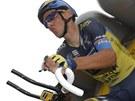 Roman Kreuziger na startu horské časovky na Tour de France