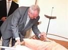 Miloš Zeman na návštěvě hospice v Červeném Kostelci