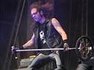 Fernando Ribeiro předvedl při koncertu kapely Moonspell kromě zpěvu i divoké...