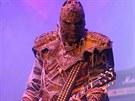Členové finské kapely Lordi přišli oblečeni v kostýmech, které se inspirovaly...