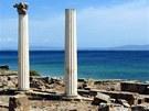 Římské sloupy v lokalitě Tharros