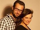 T�hotn� Marta Jandov� a jej� partner Miroslav Verner