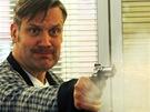David Matásek během natáčení seriálu Sanitka II