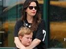 Liv Tylerová a  její syn Milo Langdon (2013)
