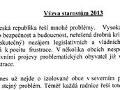 Výzva starostům 2013