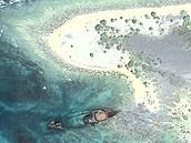 Pobřeží ostrova North Sentinel