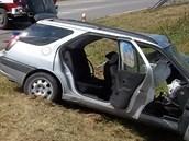 Tragická nehoda u Žamberku, při níž zemřeli tři lidé v peugeotu. (19. července...