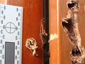 Gang zlod�j� vyvrtával otvory v oknech a dve�ích novostaveb.