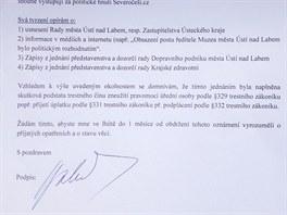 Trestní oznámení podal Radim Holeček v pondělí na okresní státní zastupitelství.