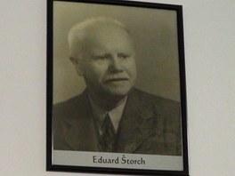 Portr�t spisovatele v Muzeu Eduarda �torcha