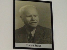 Portrét spisovatele v Muzeu Eduarda Štorcha