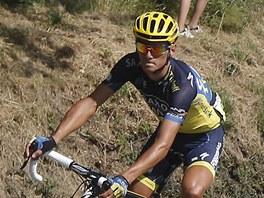 Český cyklista Roman Kreuziger v čele skupiny v 16. etapě Tour de France