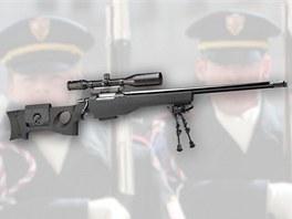 Vojáci hradní stráže mají nově ve výzbroji i odstřelovací pušku CZ 750.