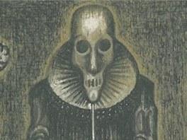 Ilustrace Jaroslava Róny k povídce Edgara Allana Poea Maska červené smrti (z