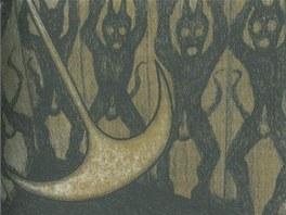 Ilustrace Jaroslava Róny k povídce Edgara Allana Poea Jáma a kyvadlo (z knihy