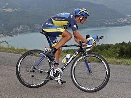 Roman Kreuziger v horské časovce na Tour de France.