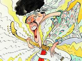 Jimi Hendrix v pod�n� Geralda Scarfa