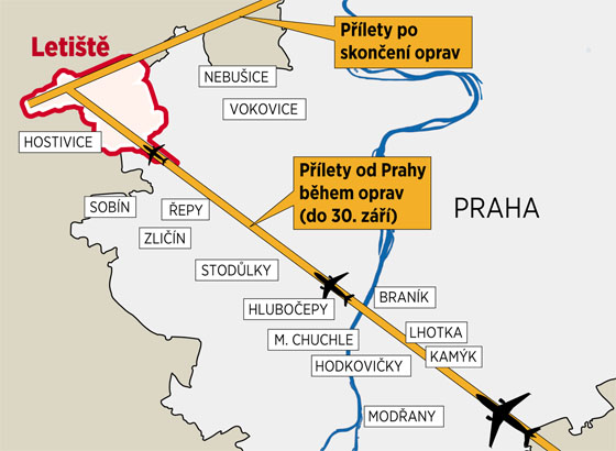 Na konci září skončí oprava hlavní dráhy ruzyňského letiště.