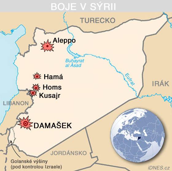 Boje v Sýrii (červenec 2013)