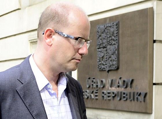 P�edseda �SSD Bohuslav Sobotka zam��il na ��ad vl�dy jednat s premi�rem Ji��m