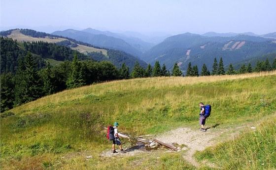 Pramen pod Čierným kameňom nad Ľubochnianskou dolinou