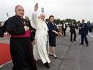 Papež František na letišti v Rio de Janeiru (22. července 2013)