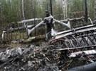 Trosky antonova, který se loni v červnu zřítil u města Serov.