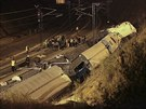 Následky nehody vlaku u Santiaga de Compostela (24. července 2013)