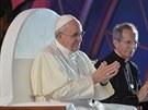 Papež František během mše na Copacabaně (25. července 2013)