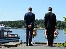 Eskil Pedersen, vlevo, šéf sociálnědemokraticé mládeže a premiér Jens