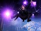 Bruce Dickinson, charizmatick� frontman kapely Iron Maiden, na koncert�