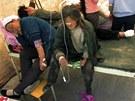 Pacienti ošetřovaní v nemocnici po zemětřesení v provincii Min-sien (22.