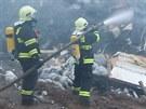 Požár skládky v Bratčicích na Brněnsku
