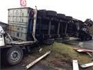 Nehoda čtyř kamionů na 52. kilometru D1 (25. července 2013)