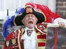 Městský vyvolávač Tony Appleton oznámil narození královského dítěte před...
